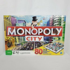 Monopoly City Board Game 3D Buildings Complete